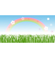 Rainbow on a Meadow vector image vector image