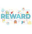 reward word lettering vector image vector image