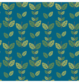 Seamless green leaves pattern background vector image vector image