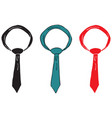 set of ties vector image vector image