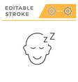 sleeping person line icon vector image vector image