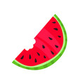 slice of ripe watermelon cartoon vector image