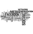 Socialization word cloud concept vector image