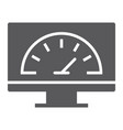 speed optimization glyph icon traffic internet vector image vector image