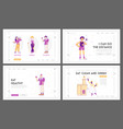 sport and food for health website landing page set vector image vector image