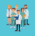 stylish and positive team of doctors vector image vector image