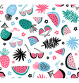 Summer seamless pattern tropical background with vector image vector image