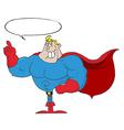 Super hero cartoon vector image vector image