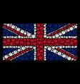 uk flag collage of life star icons vector image vector image