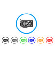 videocard rounded icon vector image vector image