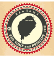 Vintage label-sticker cards of Sao Tome and Princi vector image