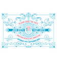 wedding invitation vintage style with floral vector image vector image