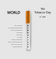world no tobacco day infographic background vector image