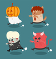 Halloween monster costume vector image