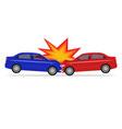 a cartoon car accident vector image