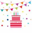birrhday cake celebration vector image