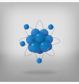 3d abstract atom structure vector image vector image