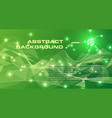 abstract colorful background in green color with vector image vector image