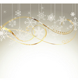 background with gold and snowflakes1 vector image vector image