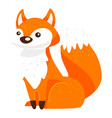 bafox character with furry tail wild animal vector image