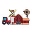 barn windmill house farm vector image vector image