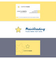 beautiful star logo and business card vertical vector image vector image