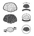 brain idea concept collection silhouette vector image
