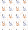 bunny pattern vector image vector image