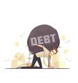 business failure debt cartoon icon vector image
