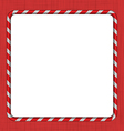 Christmas Candy Cane Frame vector image vector image