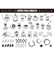 coffee time objects vector image vector image