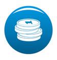 concept coin icon blue vector image vector image