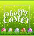 easter eggs on fresh green grass vector image