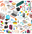 education school background pattern isometric view vector image