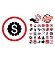 Financial Reward Seal Flat Icon with Bonus vector image vector image