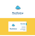 flat cloud circuit logo and visiting card vector image