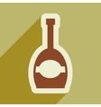 flat icon with long shadow bottle champagne vector image vector image