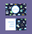 flat space business card for observatory vector image