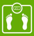floor scales icon green vector image vector image