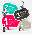 Four Steps Infographic Layout with Paper Labels vector image vector image