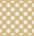 golden pattern in arabian style white and gold vector image vector image