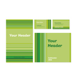 green bamboo stripe stationary template set vector image