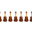 guitar seamless horizontal pattern border vector image