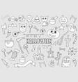 halloween drawings set of design elements doodles vector image vector image