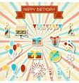 Happy Birthday party sticker icons set vector image