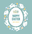 happy easter congratulation vector image vector image