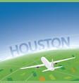 houston flight destination vector image