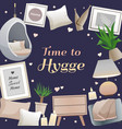 hygge style frame vector image