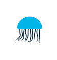 jellyfish icon colored symbol premium quality vector image