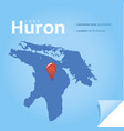 lake huron vector image